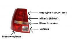 Golf IV Kombi - Światło mijania tył - czy żarówka i lampa świeci poprawnie?