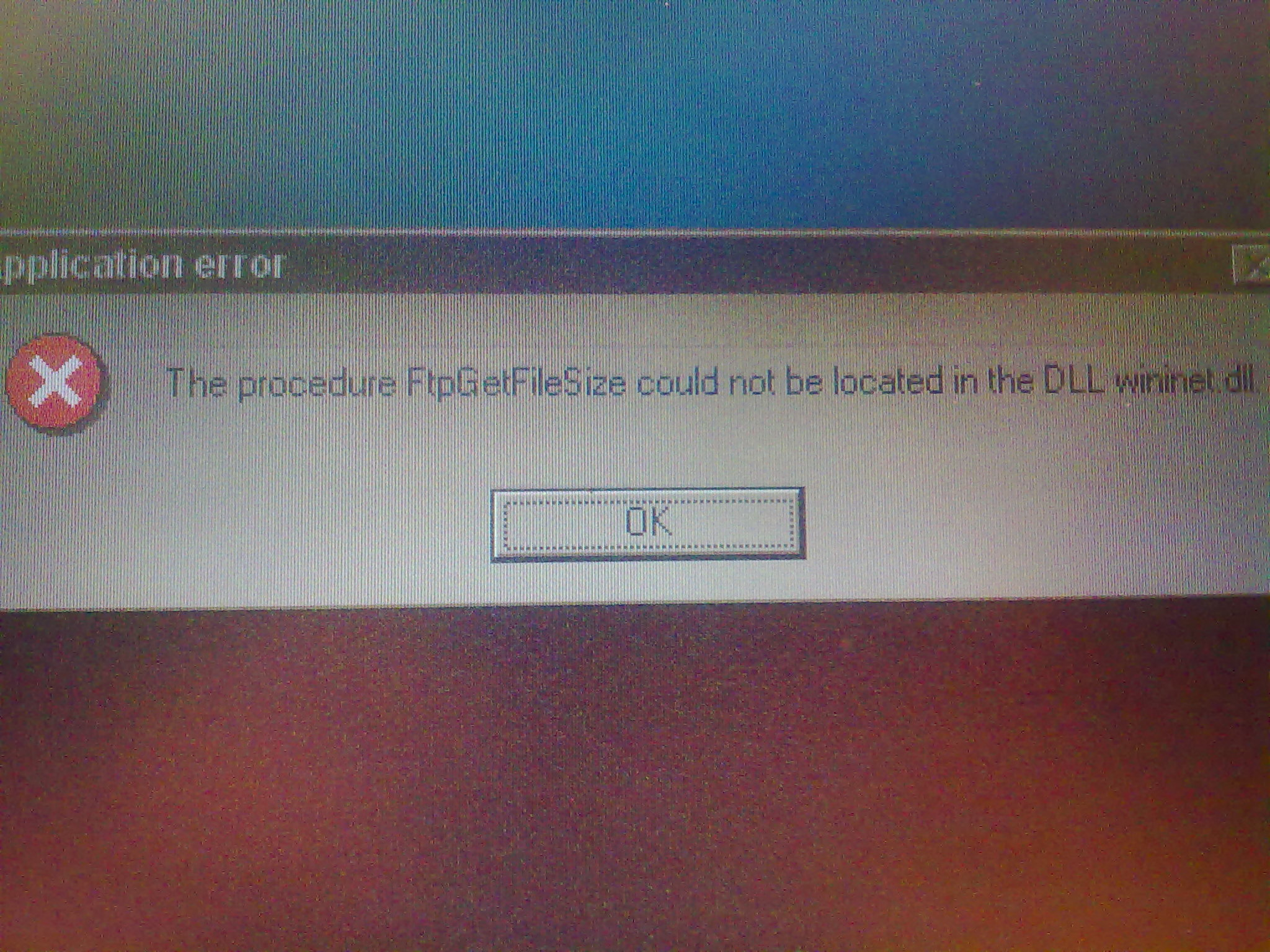 Application error. win 98. przy uruchamianiu BASCOMa.