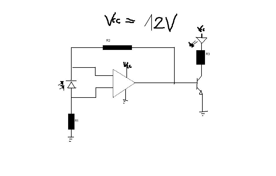 Czujnik odbiciowy na fotodiodzie