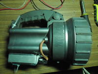 HID torch searchlight with halogen torch