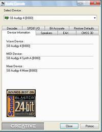 SB Audigy 2 ZS pod Windows 7 >>> cicho gra