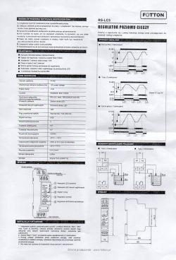 Czujnik poziomu cieczy - poprawna konfiguracja