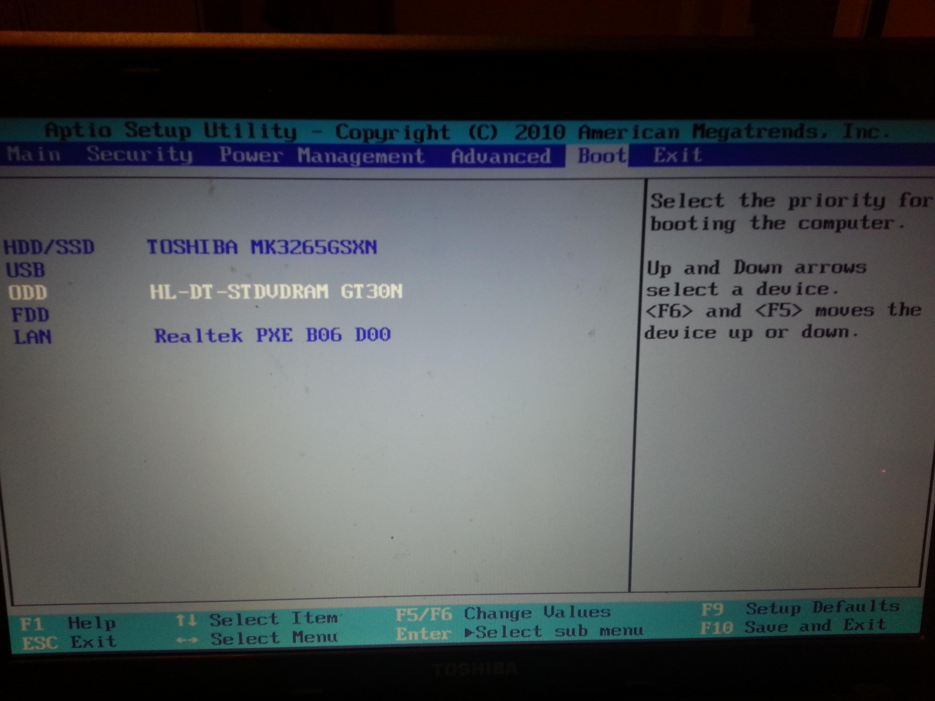 Toshiba AMD E-350 1.6GHZ - po instalacji systemu win 7, system nie uruchamia si�