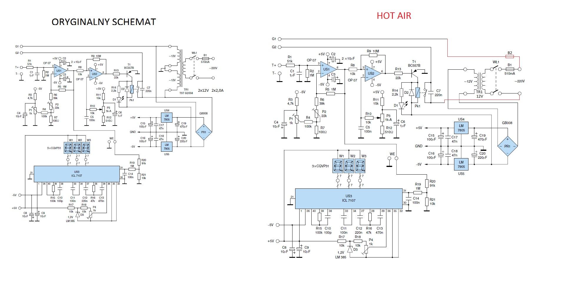Regulator lutownicy z Elektroniki Praktycznej PE3/99 do kolby Hot Air