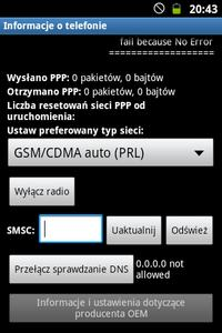 """Galaxy Mini 2 GT-S6500D - ,,Sieć telefonii komórkowej niedstepna"""""""