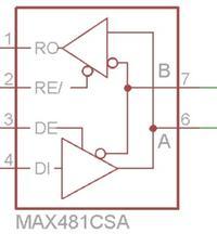 MAX485 - Przejście z RX TX TTL na RS485