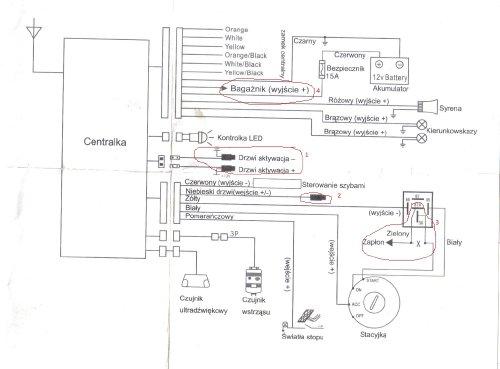 Pod��czenie alarmu Lp URZ0221 mazda 626 problem