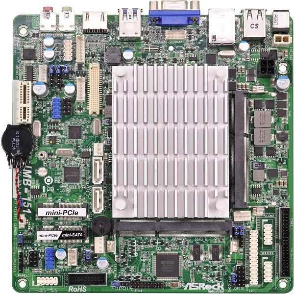 ASRock IMB-151 - p�yta thin Mini-ITX ze zintegrowanym 4-rdzeniowym procesorem