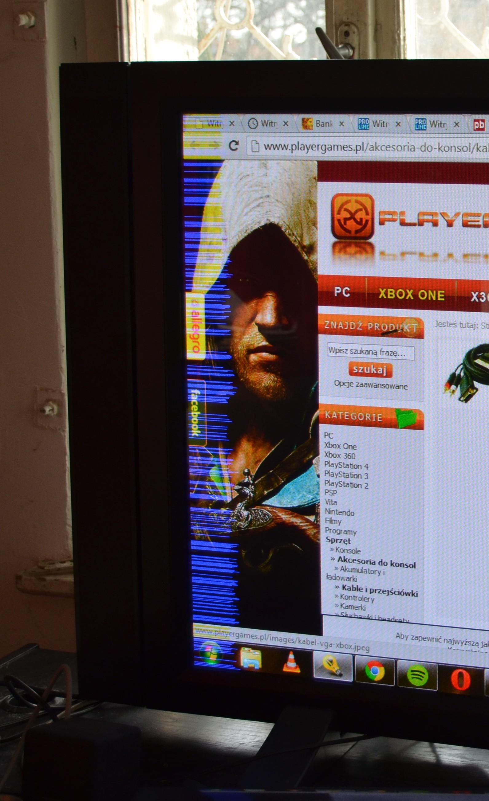 Pioneer 50MXE20  - DVI i Niebieski pasek po lewej stronie ekranu