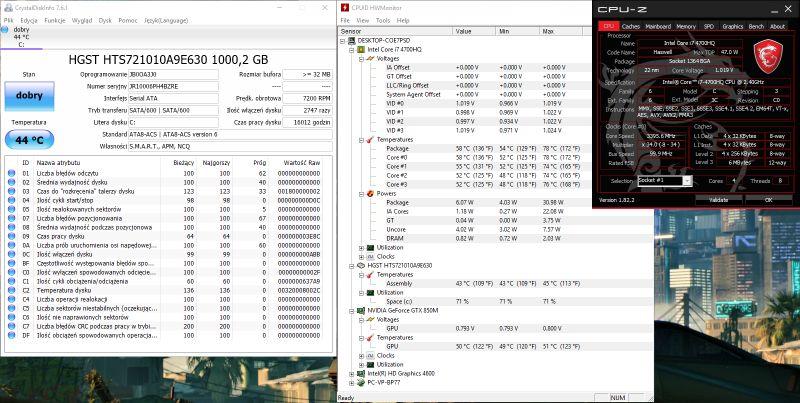 GE70 2PC APACHE-HGST/SATA600 - 100% zużycia dysku, cokolwiek robię.