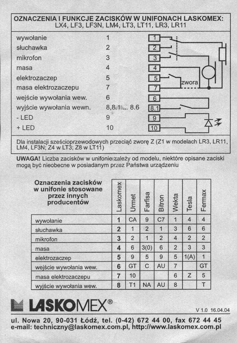 Laskomex Lm-4 - Instalacja 6�y�owa. Nie otwiera zamka.