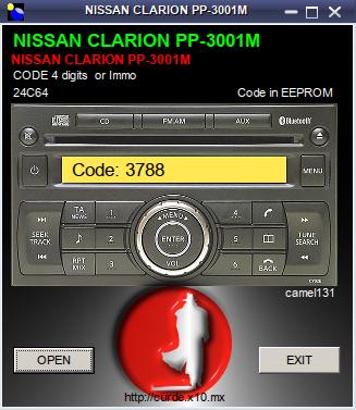 Jaki kod z pliku - radio z Nissana PP3001M