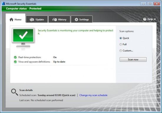 Microsoft Security Essentials 2 darmowy antywirus