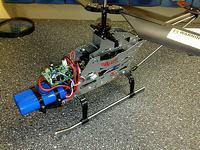 Model śmigłowca - uszkodzony układ RC