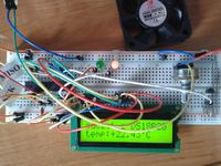 [Atmega8][Bascom] - Termometr + dioda/wentylator LCD