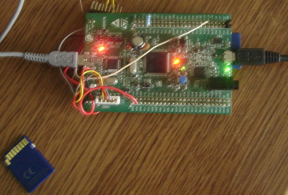 Czytnik kart SD na STM32F4Discovery