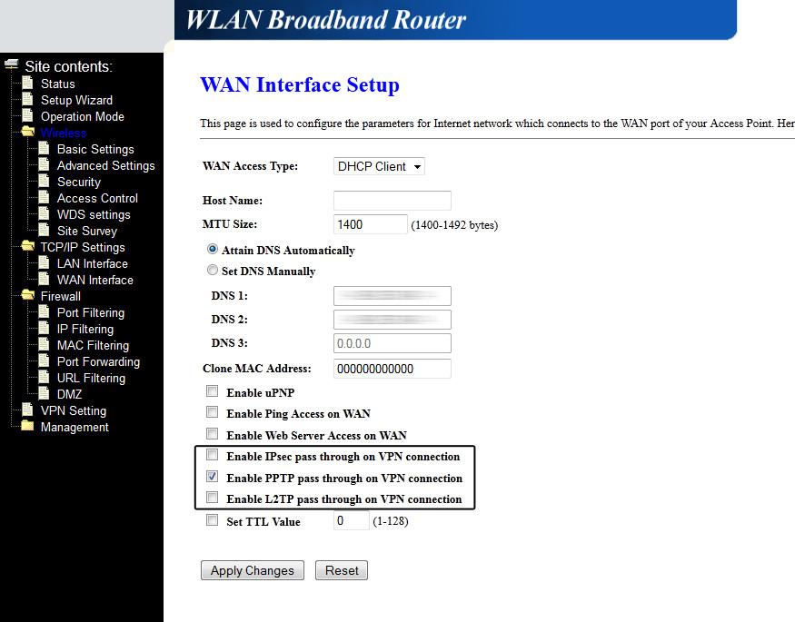 Router blokuje po��czenie VPN - po stronie klienta
