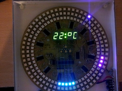 Pot�ny zegar LED oparty na Arduino
