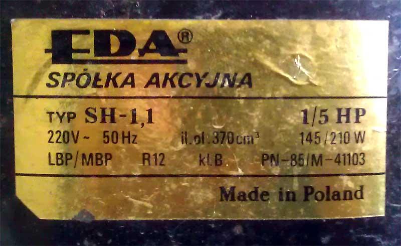 EDA SH-1,1 - Agregat - niekompletny