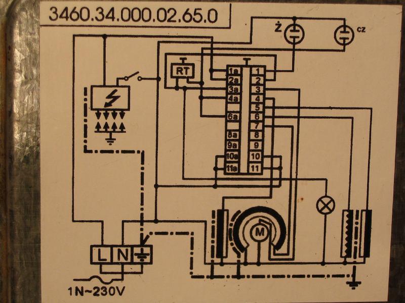 Mastercook KGE 3468ZSB Dynamic - Podłączenie przełącznika funkcji piekarnika