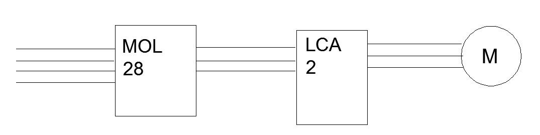 wsp�praca stycznika MOL 28 i wy��cznika ci�nieniowego LCA 2