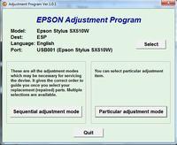 EPSON sx515w - B��d zasobnik�w z tuszem