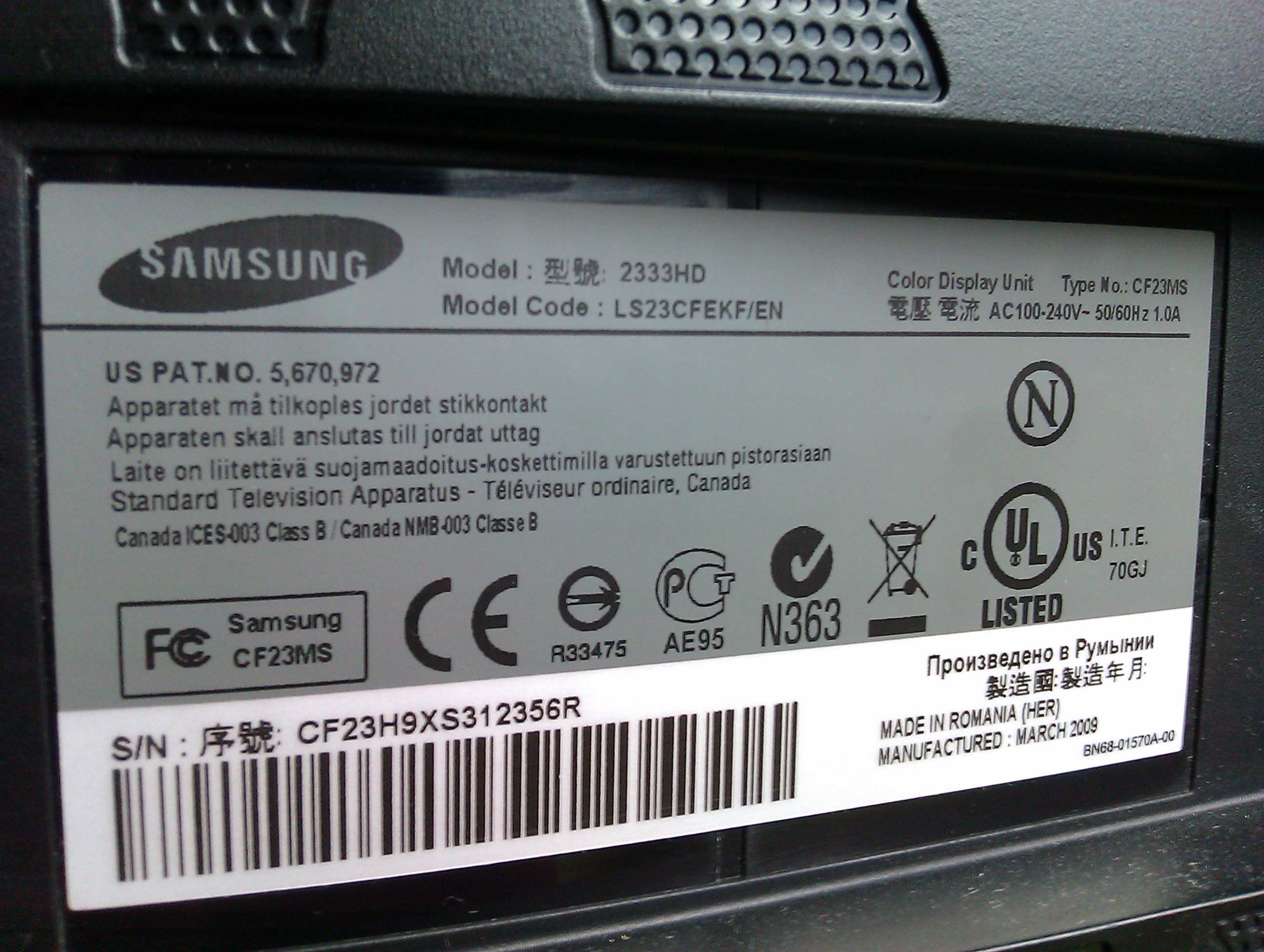 Monitor Samsung 2333HD z tunerem TV sk�d pobra� i jak wykona� zmian� software'u?