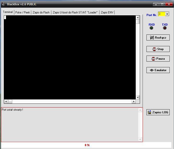 Nbox- brak komunikacjii mi�dzy ZL1USB a z��czem DEBUG w tunerze