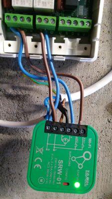 Podłączenie jednocześnie dwóch sterowników rolety bramowej.