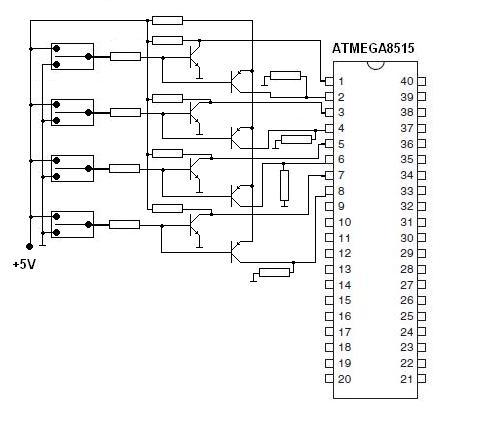 Rozpoznawanie przycisków ATMEGA8515