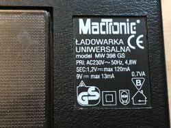 "Stara, ""polska"" ładowarka ""uniwersalna"" NiCd MacTronic model"