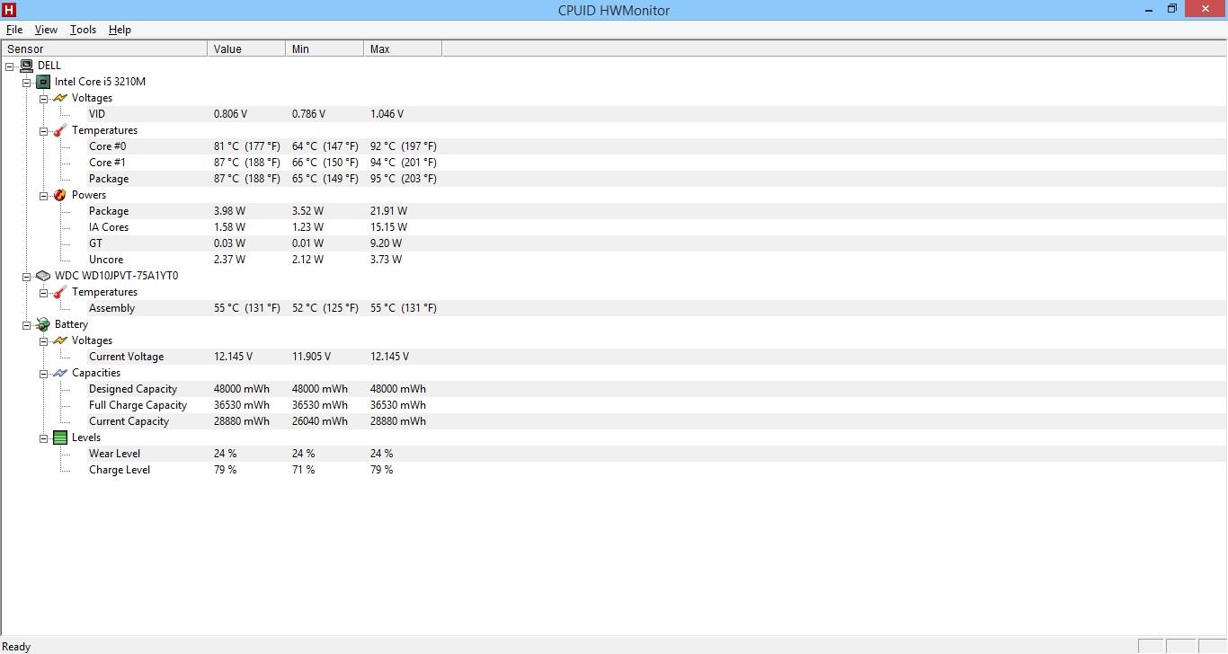 Dell Inspiron 15R, grzeje si�, problem z wentylatorem.