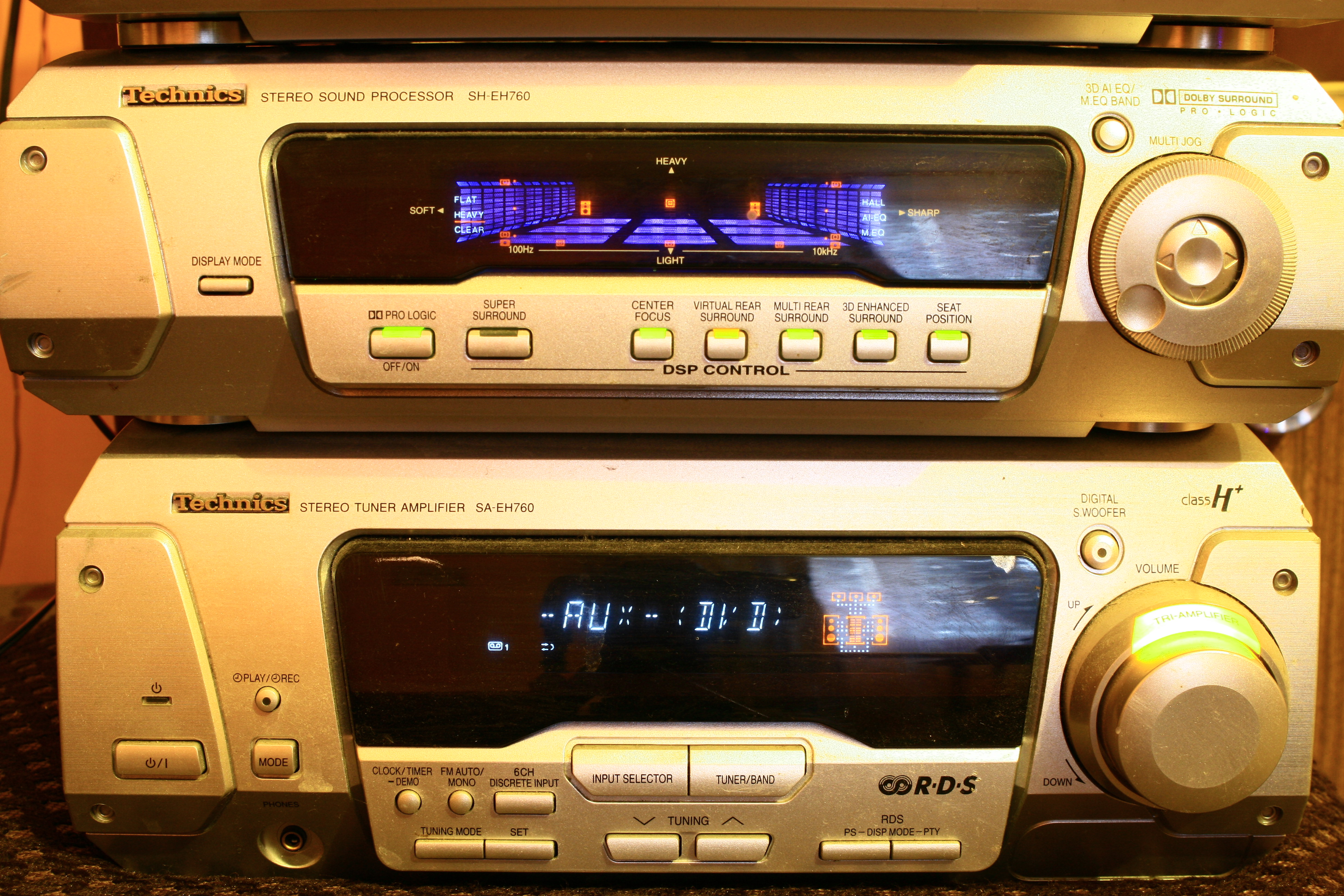 Technics SA-EH760 jak pod��czy� sygna� stereo pod surround