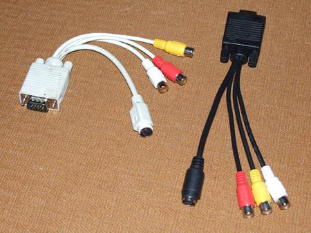 Przej�ci�wki,adaptery VGA  na  S-Video, czy to ma  sens?. Ostrze�enie-uwagi.