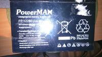 [Sprzedam] Akumulator AGM 12V .28,0AH do zasilania awaryjnego, wózka, łodzi.