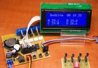 Termostat 4 kana�owy + sterowanie czasowe Zegarowe Atmega 328