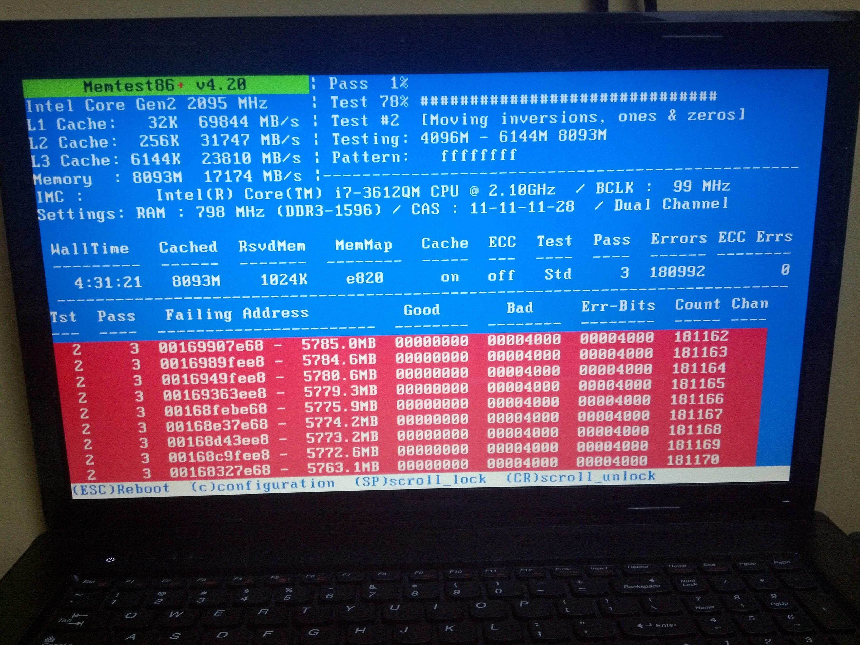 Lenovo G780 - Zepsuty RAM. Rozkrecanie, a gwarancja