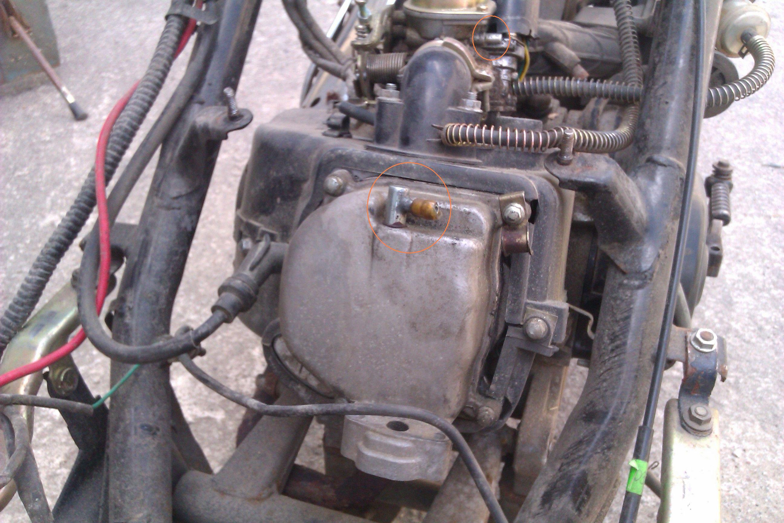 Chi�ski skuter z marketu - wolne kr��ce przy silniku