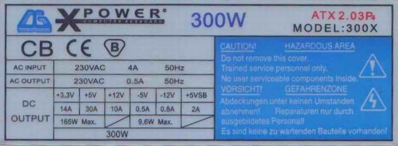 XPower model: 300X rev. CG-11B i rozerwany kondensator C14?