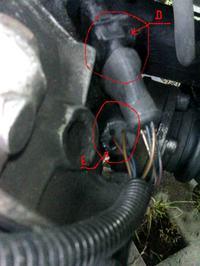 Czujniki w audi 100 2.3 Kat silnik NF rok.89