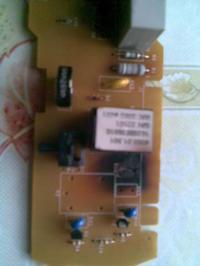 lodówka Indesit CA238L nie mrozi, spalony układ sterowania.