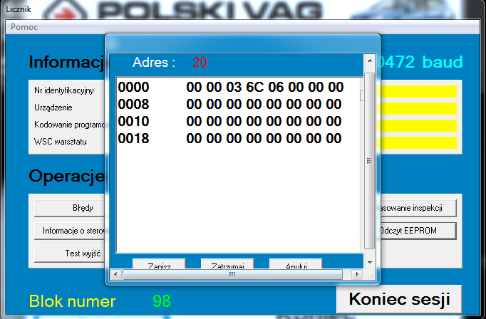 Skoda Octavia 1 TDI 1,9 AHF 110KM  -  wy�wietlacz komputera, funkcje