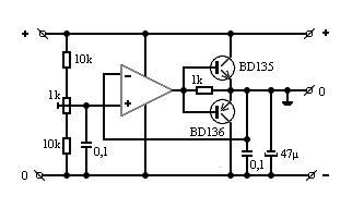 Zasilanie symetryczne +/- 12V DC z 24V Dc