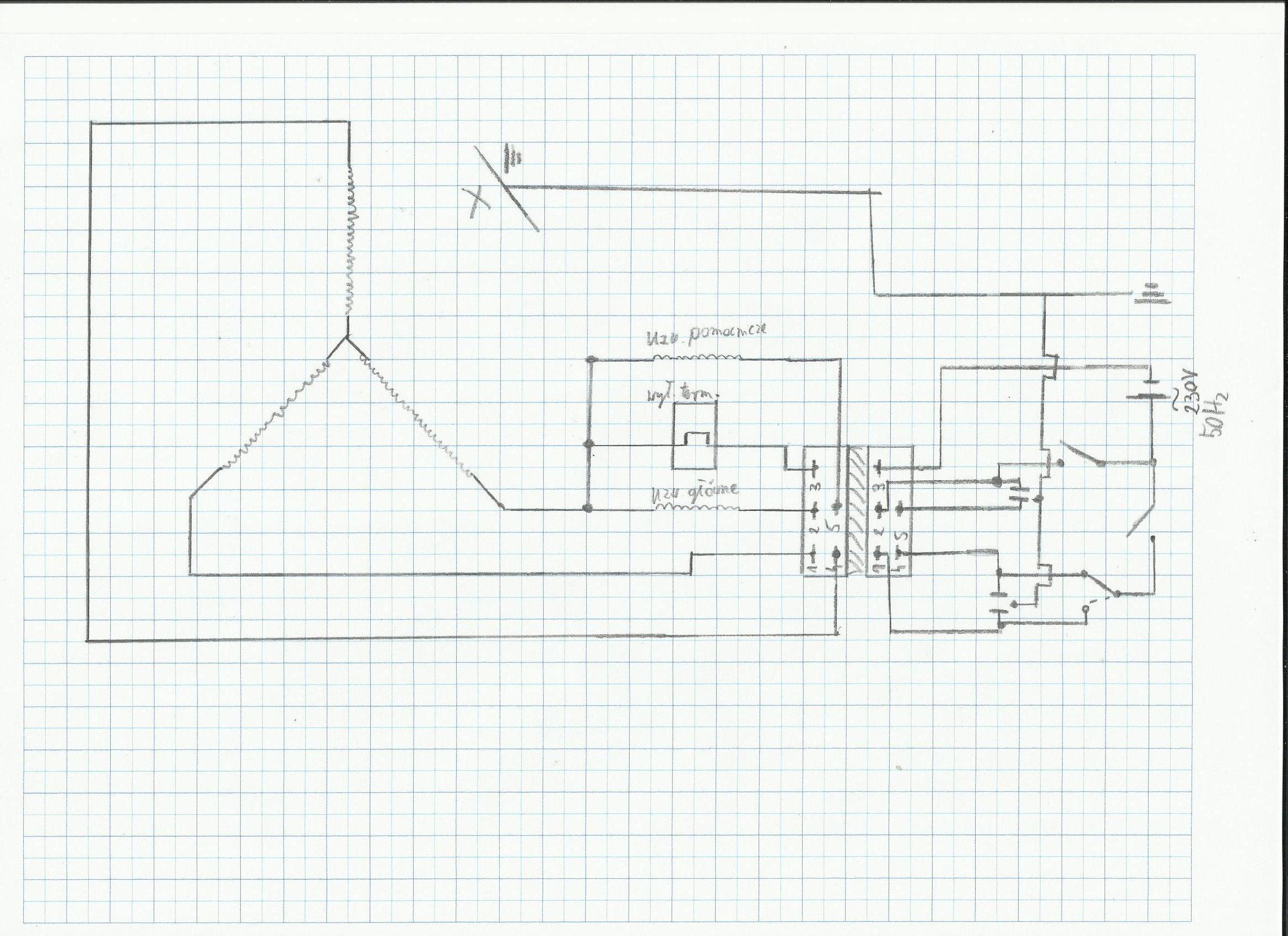 Schemat pod��czenia silnika z pralki (OKC 2) pod 230V