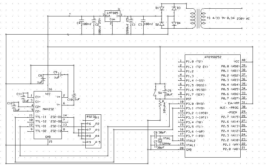 Uk�ad mikroporcesorowy mierz�cy cz�totliwo�� na 8051