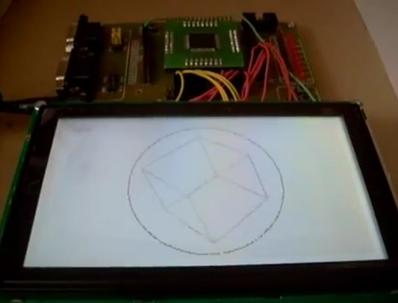 ATmega128 - wyświetlanie brył 3D