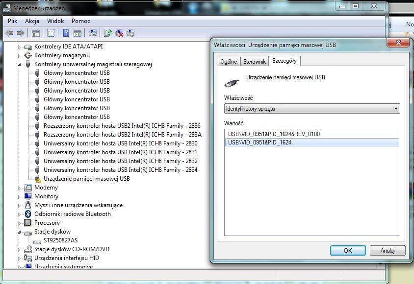 PC nie wykrywa DataTraveler 2g 4Gb DVD, PS2 wykrywa