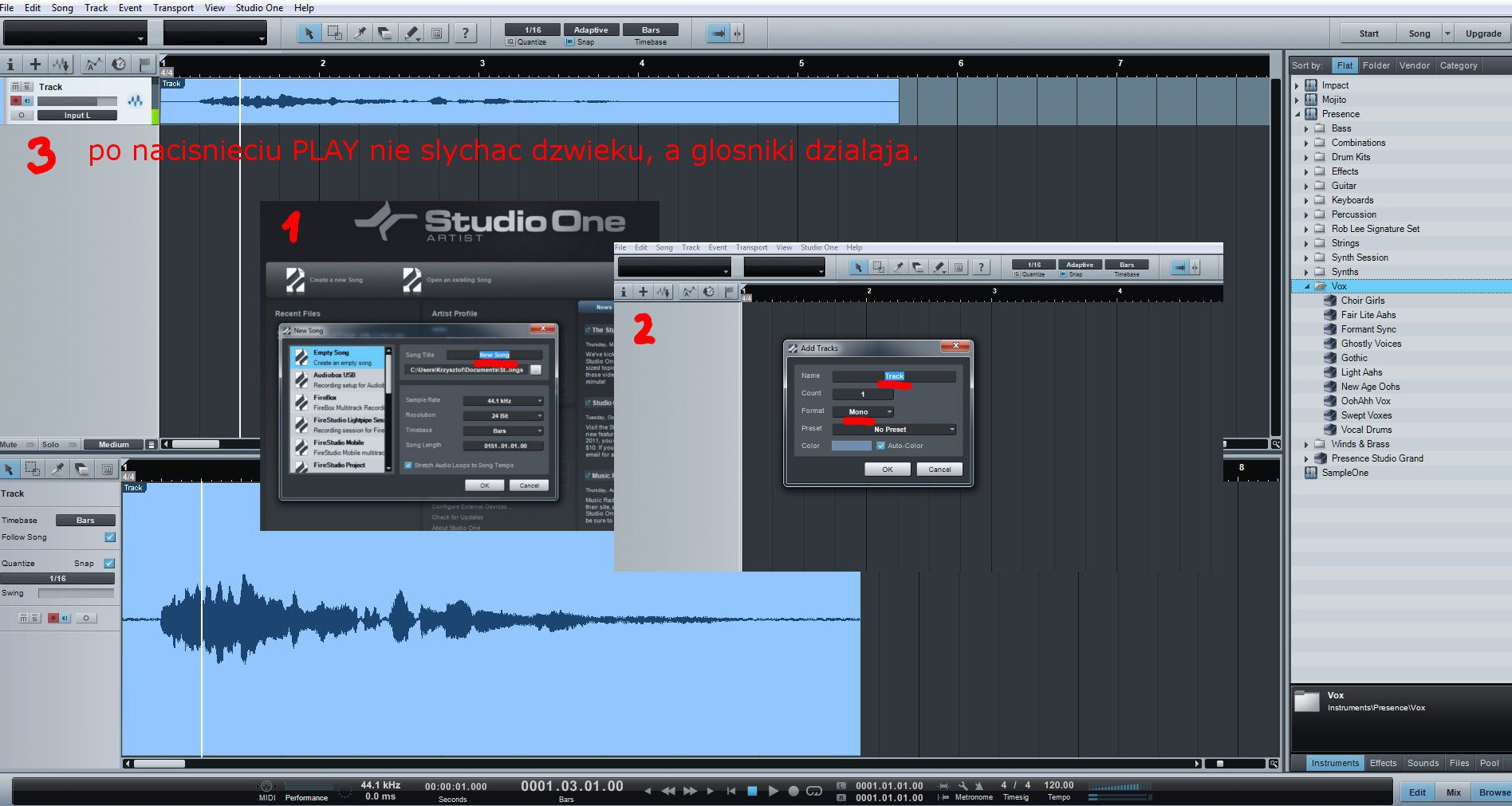 Jakie ustawienia dla mikrofonu do dubbingu w studiu.