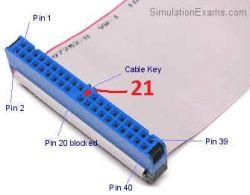 Dysk IDE Seagate ST320413A uszkodzony jeden pin