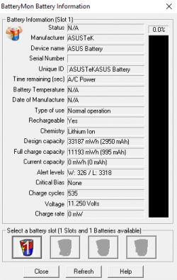 Asus A540L - Bateria laptopa nie ładuje się